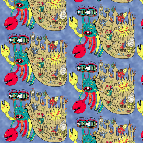 Downton Crabbey, small scale fabric by amy_g on Spoonflower - custom fabric