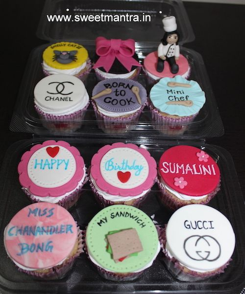 Cooking Shopping Friends sitcom theme designer birthday cupcakes