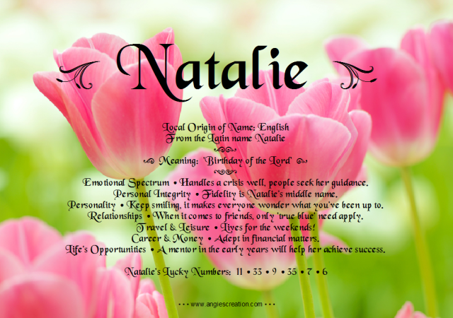Natalie Name Meaning