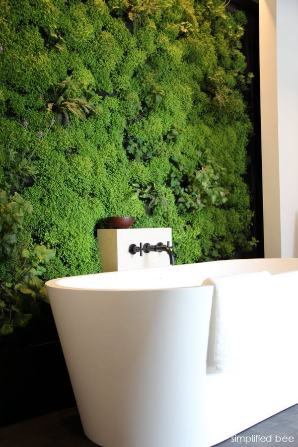 Another idea is to grow plants on the wall for something different that saves space and looks artistic.