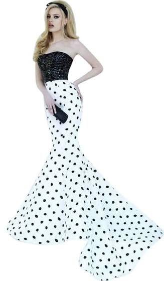 Polka Dot Long Prom Dresses