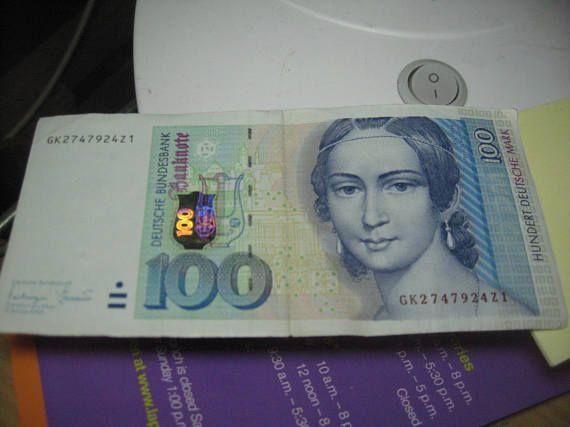 German 100 Deutsche Mark vintage 1996 Bundesbank d (With