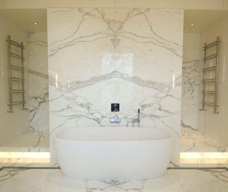 luxus marmor bad mit dusche und badewanne | projekt | pinterest ... - Badezimmer Dusche Badewanne