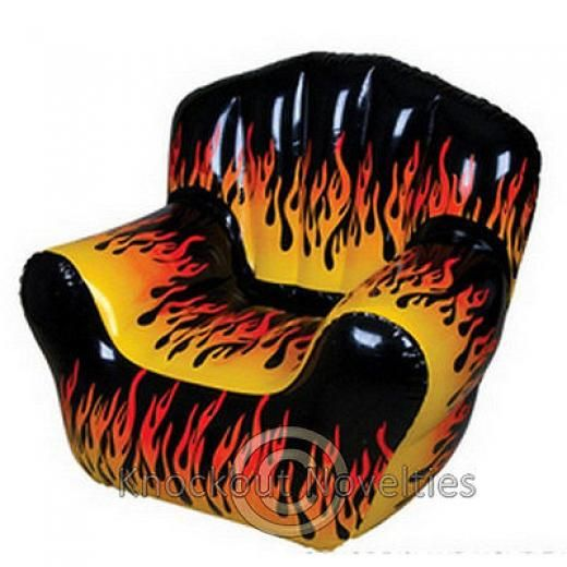 Pleasing Inflatable Flame Chair Inflate Blow Up Air Light Large Seat Theyellowbook Wood Chair Design Ideas Theyellowbookinfo