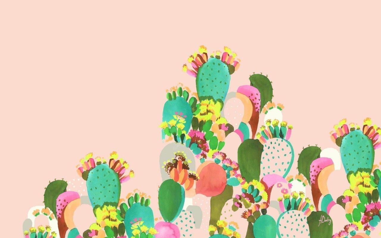 De Los Cactus Wallpaper Desktop Wallpaper Design Spring Desktop Wallpaper Macbook Wallpaper