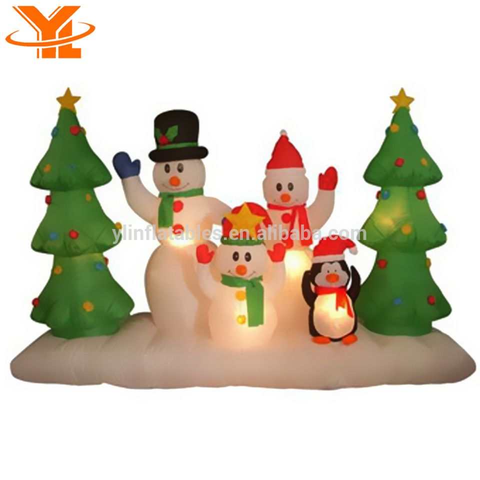 Funny Snowman, Inflatable Snowman Gifts, Lighted Outdoor Christmas ...