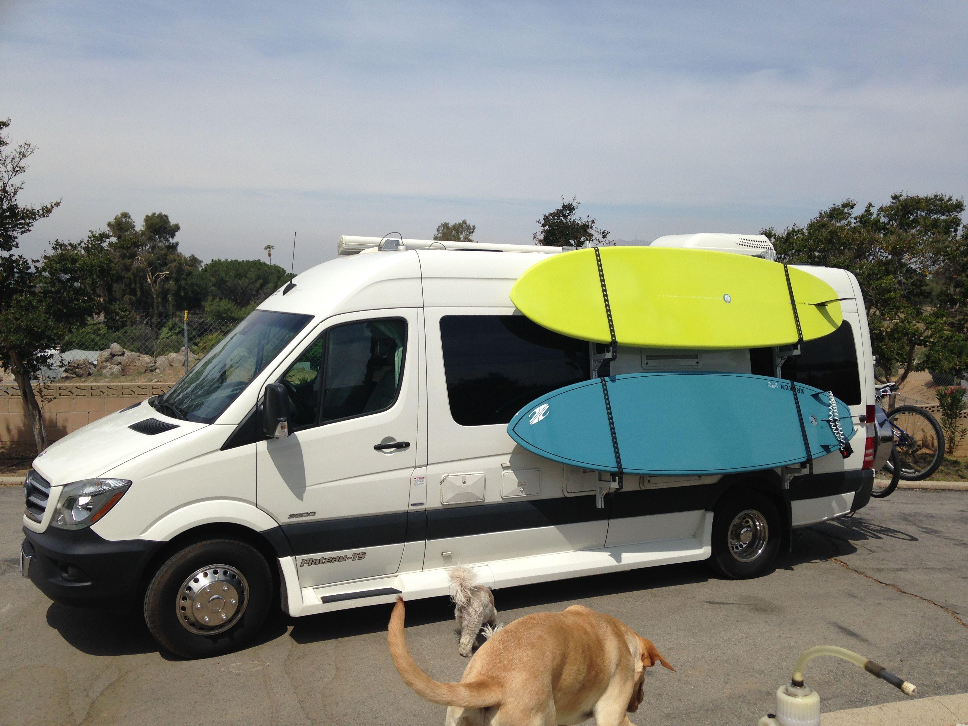 Surfboard Side Mounts Van//Camper van//Motorhome//Volkswagen