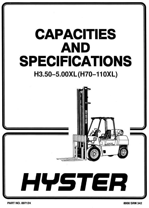 Original Illustrated Factory Workshop Manual for Hyster ... on hyster electrical diagrams, hyster w40z, hyster ignition system, hyster 5.0 engine, hyster hydraulic diagram, hyster forklift tire diagram, hyster forklift schematic,