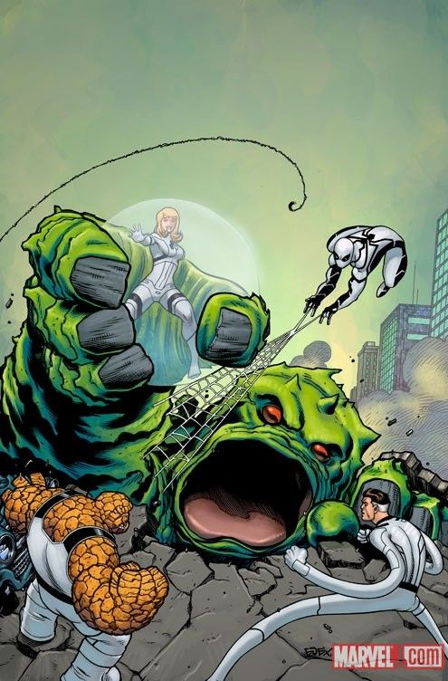 The Future Foundation After Kirby S Fantastic Four 1 By Ed Mcguinness Fantastic Four Comics Marvel Artwork Fantastic Four