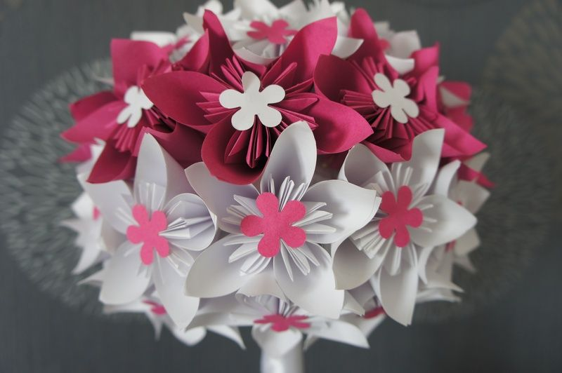 Brautstrauss Kusudama Hochzeit  von Papier Träume auf DaWanda.com