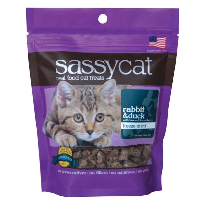 Sassy Cat Rabbit & Duck Cat treats, Chicken cat