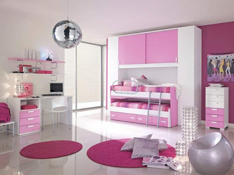 Imagenes para ni as dormitorios rosa para dos ni as for Dormitorios para 4 ninas