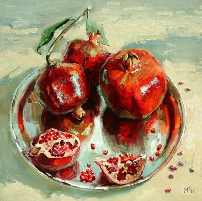 Pomegranate Paintings By Maria Pavlova Amo Images Amo Images