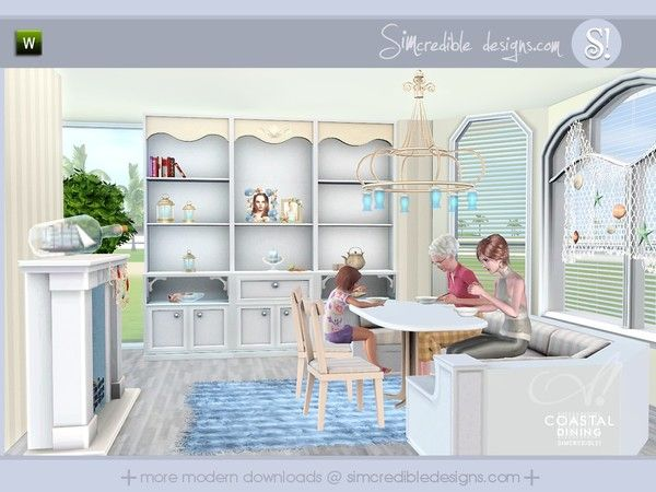 coastal dining room by simcredible! designs - sims 3 downloads cc, Esszimmer dekoo