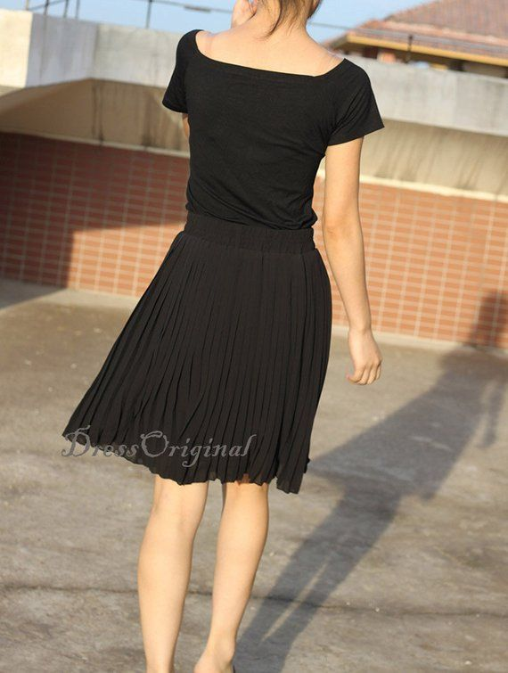873899ee7 Top quality black skirt, black Pleated skirt, black short Skirt, custom  made skirt ,16 colors ava