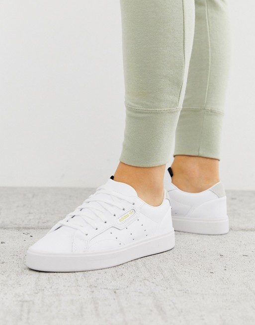 adidas Originals Sleek sneakers in white