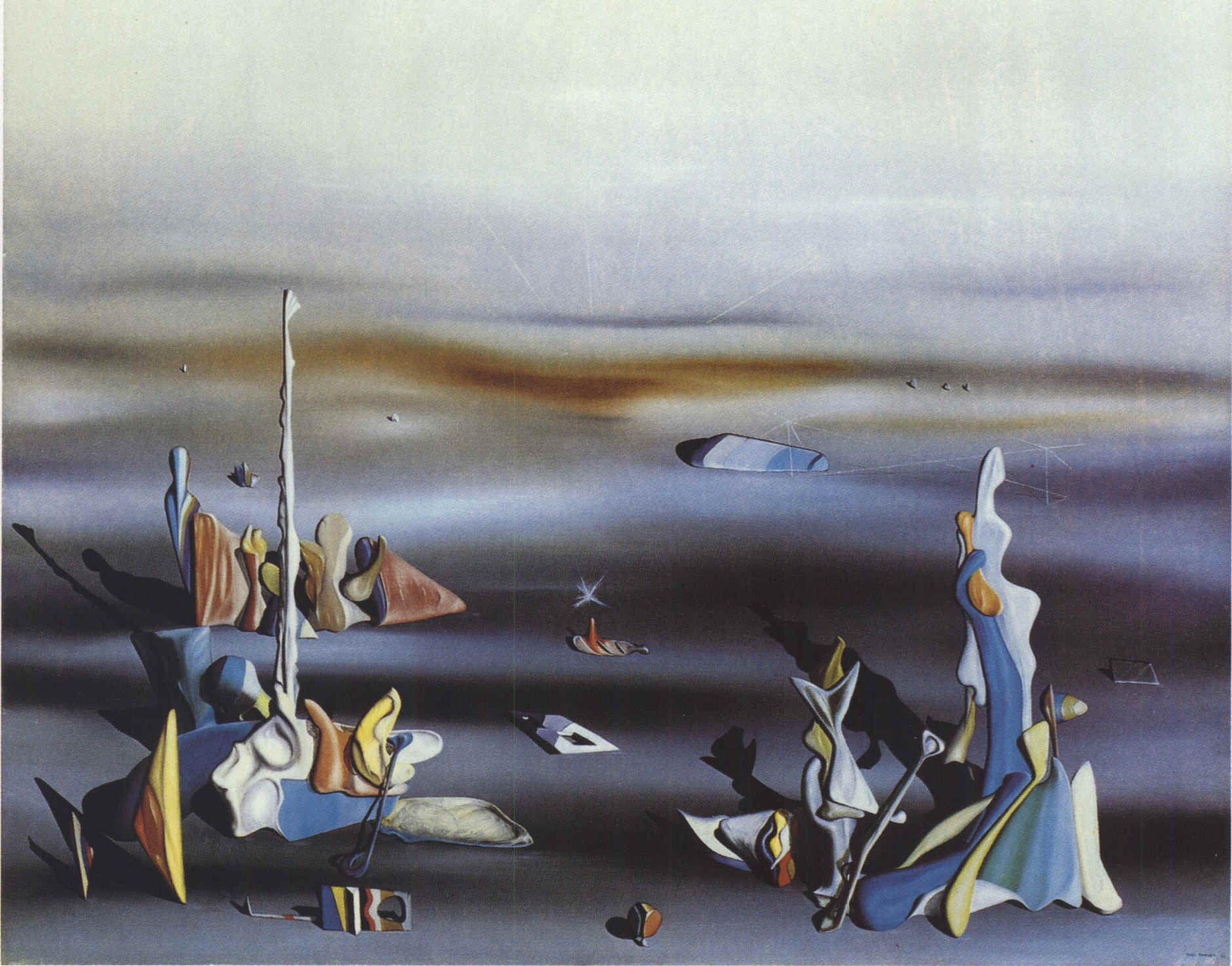 Yves Tanguy, The Five Strangers Surrealismus malerei, Freude
