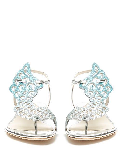 Seraphina angel wings flat sandals   Sophia Webster