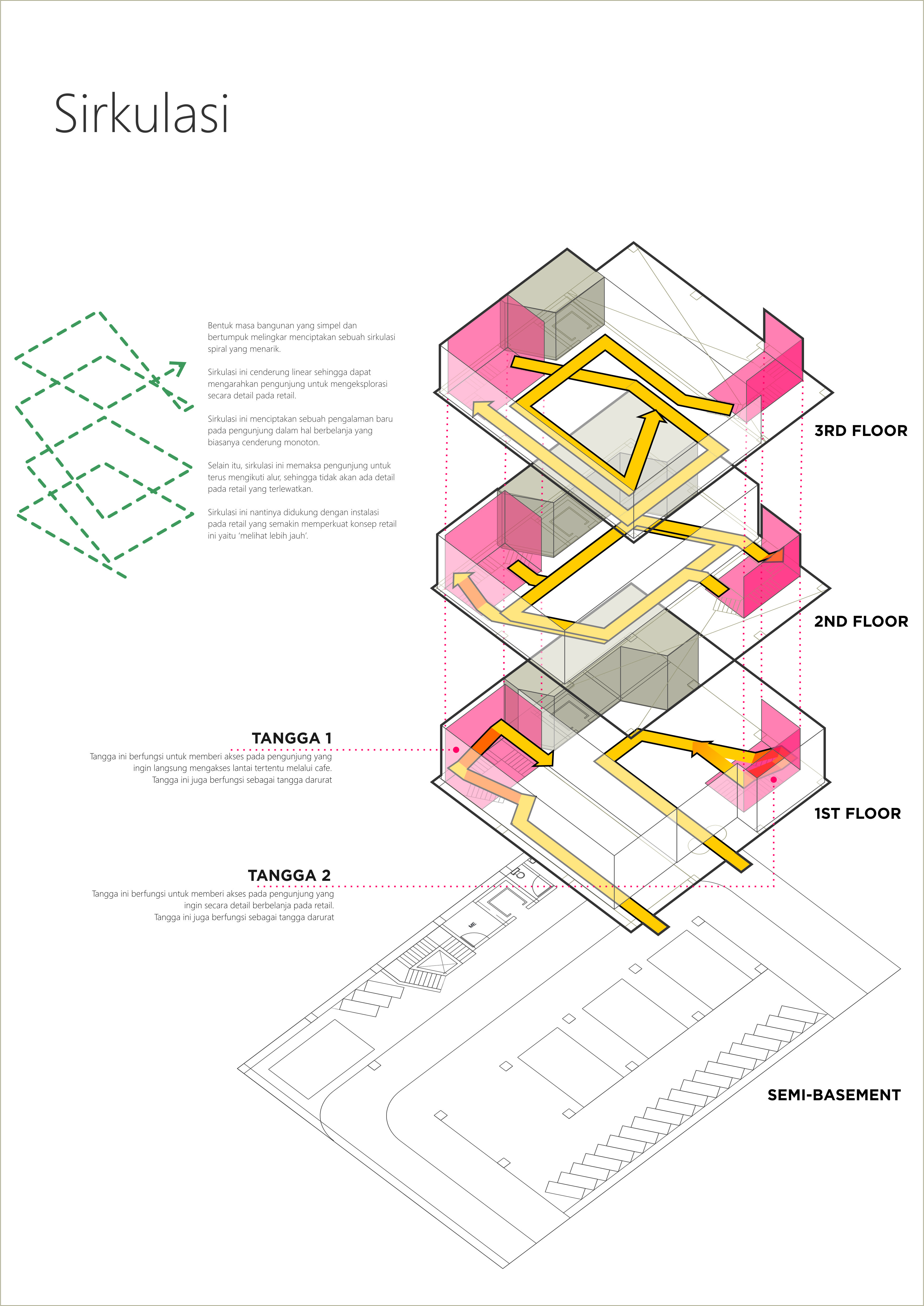 Architectural Program Diagram And 2 7 Round Trailer Wiring 2nd Year Studio Project I Made This Circulation