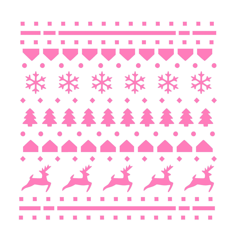 Christmas Sweater Pattern Stencil