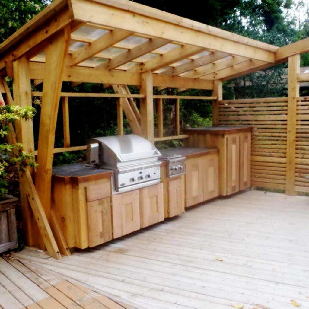 Outdoor Kitchen Ideas Rustic  Garden yard design ideas and