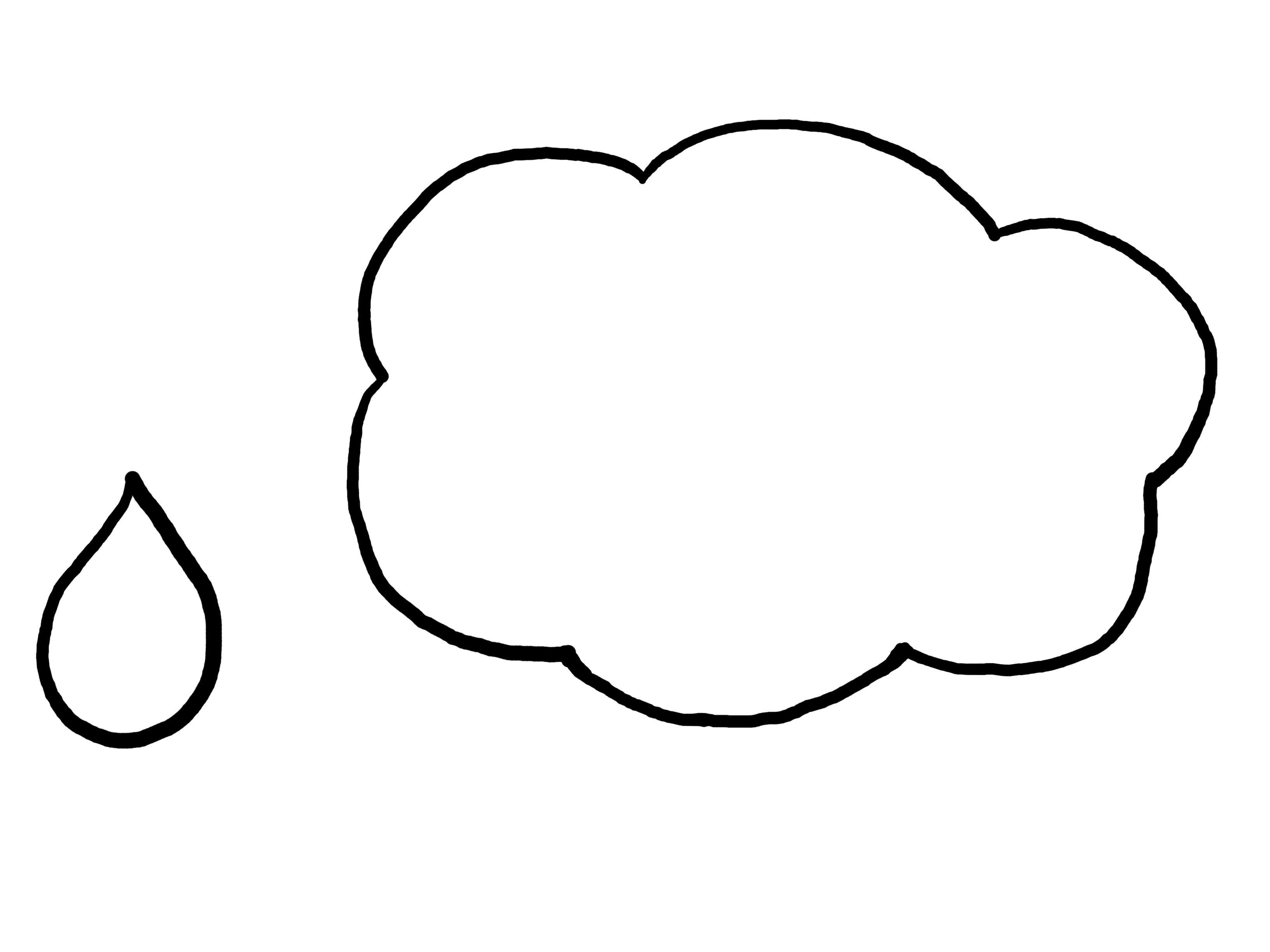 Cloud Raindrop Template Month Of March Ideas Cloud Rain Wind
