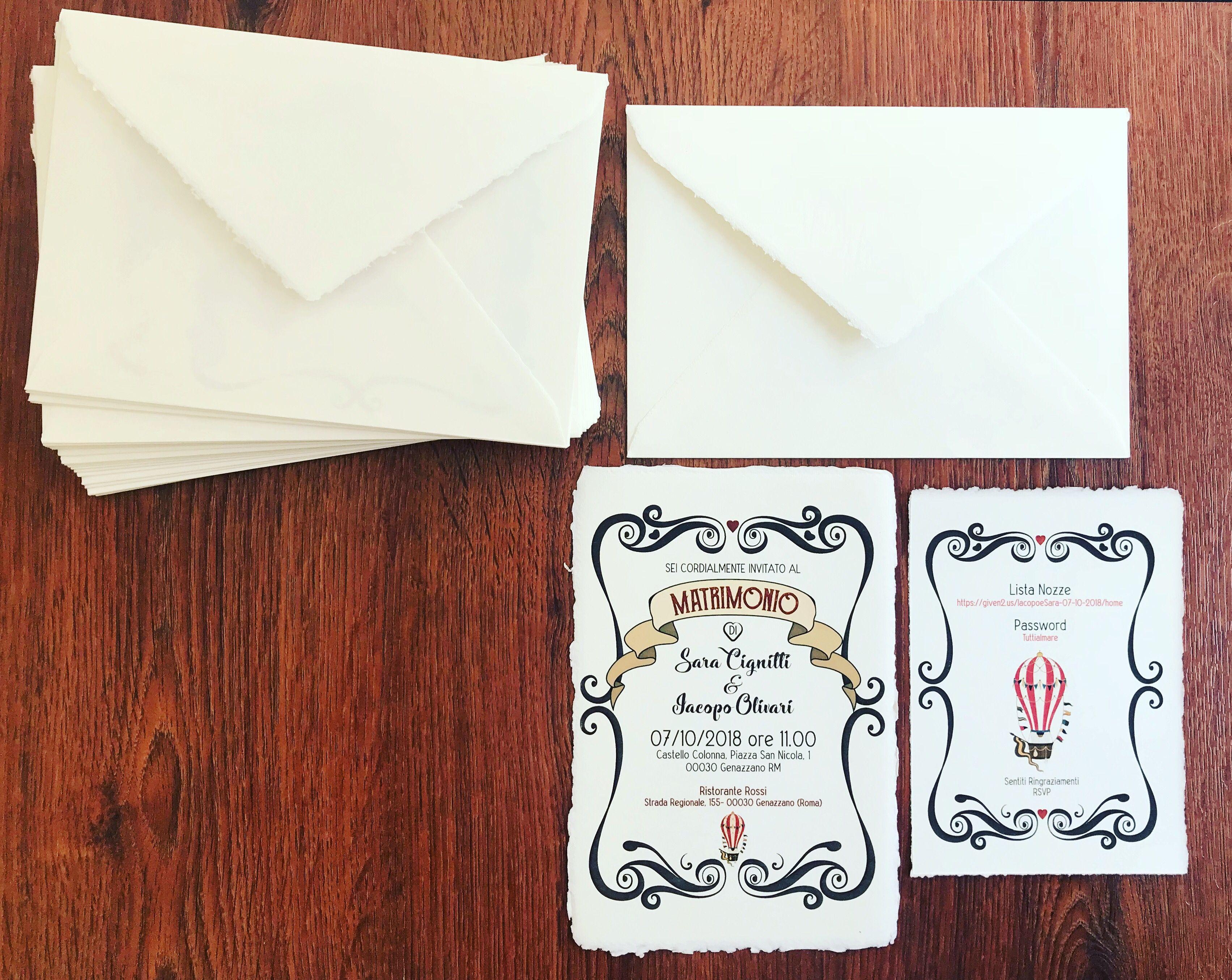 Partecipazioni Personalizzate In Carta Amalfi Partecipazioni Matrimoniali Partecipazione Amalfi