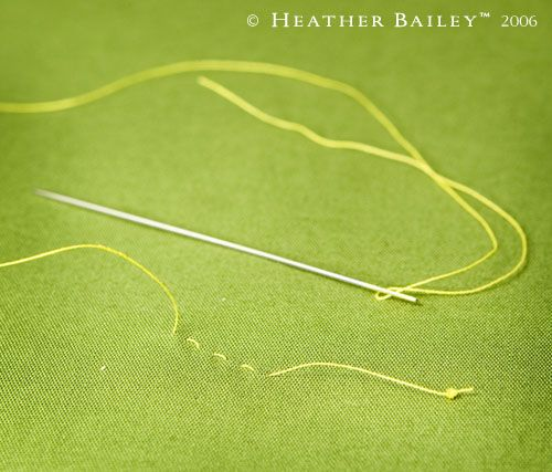 Knotting your thread when hand-sewing, quilting, embroidery ~ Tutorial for the best knot ever!