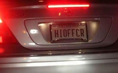 Hi Officer Funny License Plates Vanity License Plates