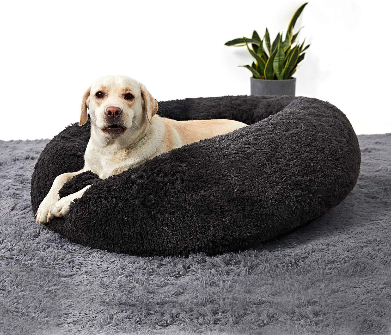 Anwa Washable Dog Round Bed Medium Donut Dog Bed Large Dog Comfy Dog Calming Cuddler Bed Dog Beds For Small Dogs Dog Bed Large Donut Dog Bed
