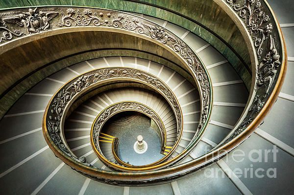 Bramante Spiral Staircase Vatican City Rome Italy