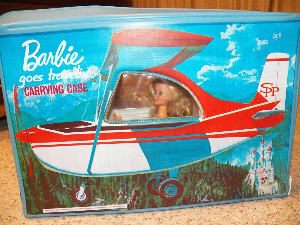 Vintage Barbie Goes Travelin Carrying  Case 1965 and 1966