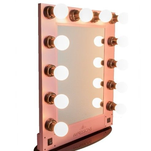 """Fall in Love with our Pink """"Hollywood Glam Mirror"""" ! #prettyinpink #vanitymirror #vanitylights #glam"""