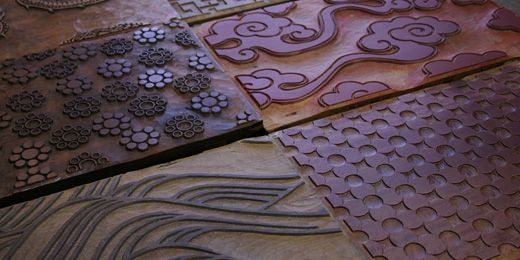 Karacho: Handprinted wall paper and fabric