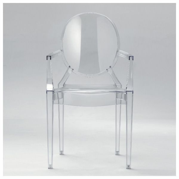 Philip Starck's Louis Ghost chair. I can see clearly now...