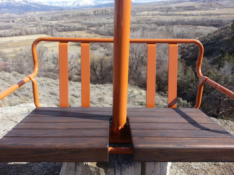 Antique Ski Lift Chair Swing Swinging Chair Ski Lift Chair Antique Skis