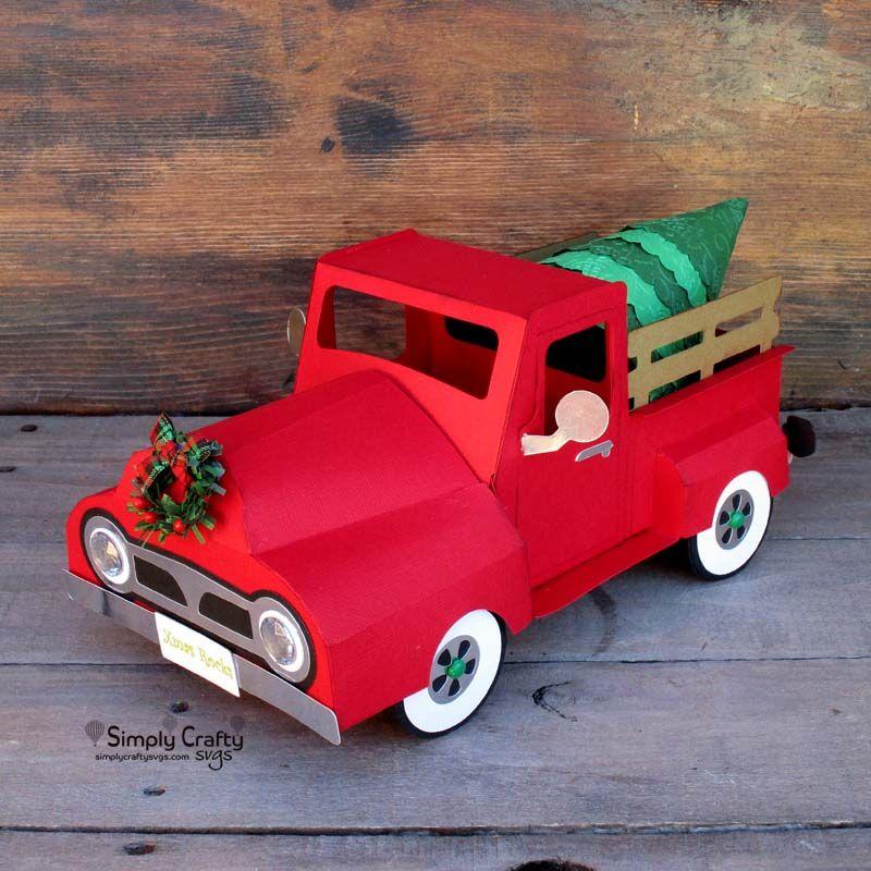 Vintage Christmas Truck Svg