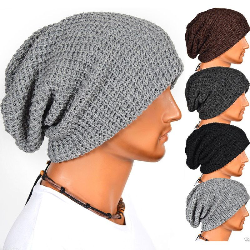 eb1356f29d4 Men Women Warm Oversize Beanie Skull Baggy Cap Winter Slouchy Knit Hat  Unisex N5  fashion  clothing  shoes  accessories  unisexclothingshoesaccs  ...