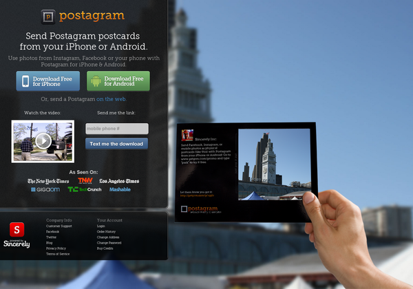 Turn your instagram photos into physical OR digital postcards. http://postagramapp.com