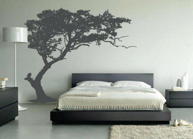 Wonderful Stickers Muraux Pour Chambre Adulte #10: Chambre Déco Zen : 50 Idées Pour Une Ambiance Relax. Pochoir MuralStickers  ...