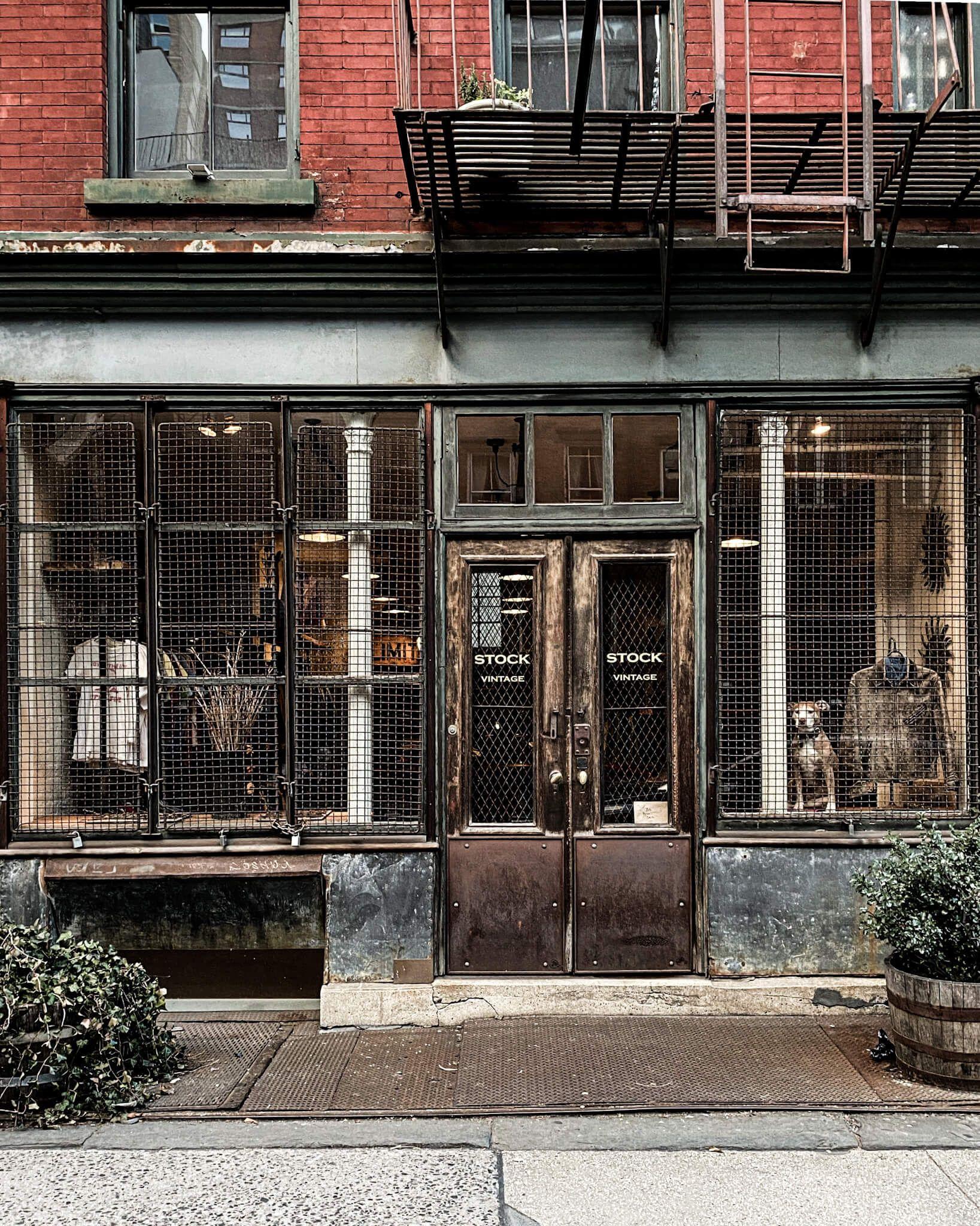 Stock Vintage East Village Ny In 2020 East Village Vintage Men Vintage Shops