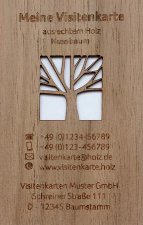 Visitenkarten Aus Holz Musterpaket Mit Den Holzarten