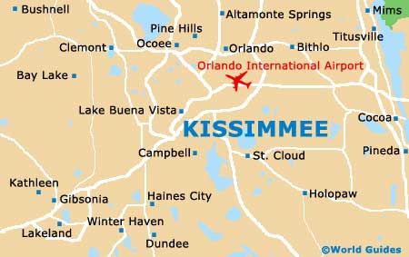 Small Kissimmee Map Vakanties Holiday S Short Breaks Kissimmee
