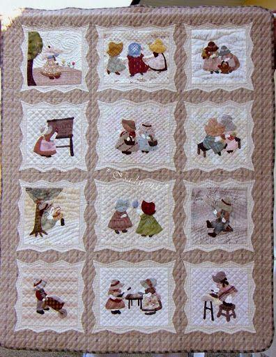 Reiko kato sunbonnet quilt patchwork applique and - Reiko kato patchwork ...