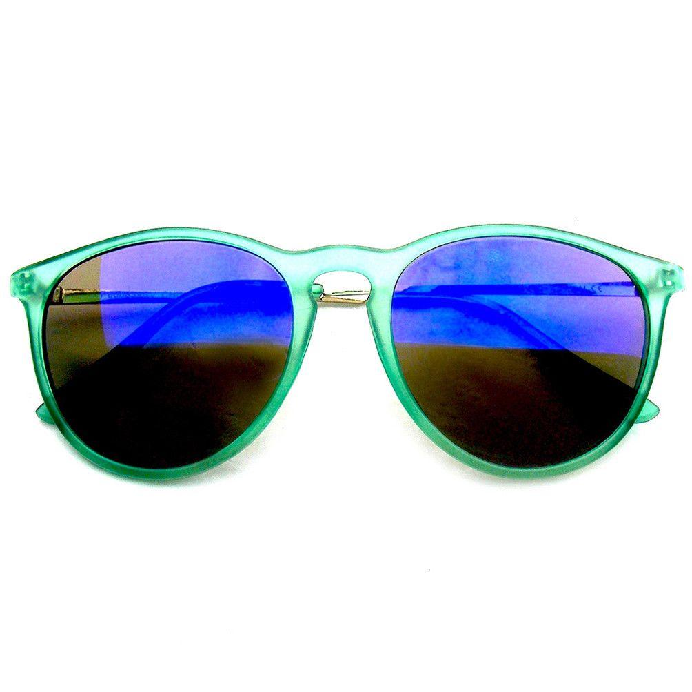Retro Dapper P3 Keyhole Flash Revo Lens Sunglasses