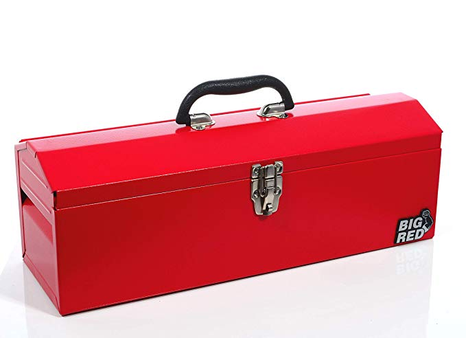Amazon Com Torin Big Red 19 Portable Steel Tool Box With Removable Tray Red Automotive Portable Tool Box Best Portable Tool Box Metal Tool Box