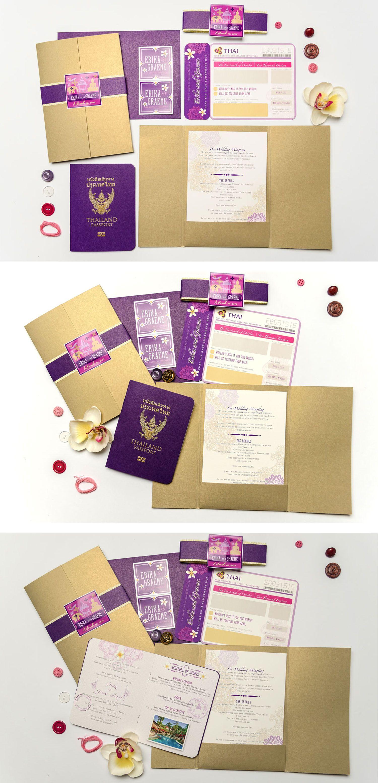 Koh Samui Thailand Passport and Airline Ticket / Boarding Pass ...