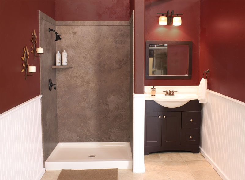 Swanstone Shower Wall Kit With Bench Seat At Menards Bathroom