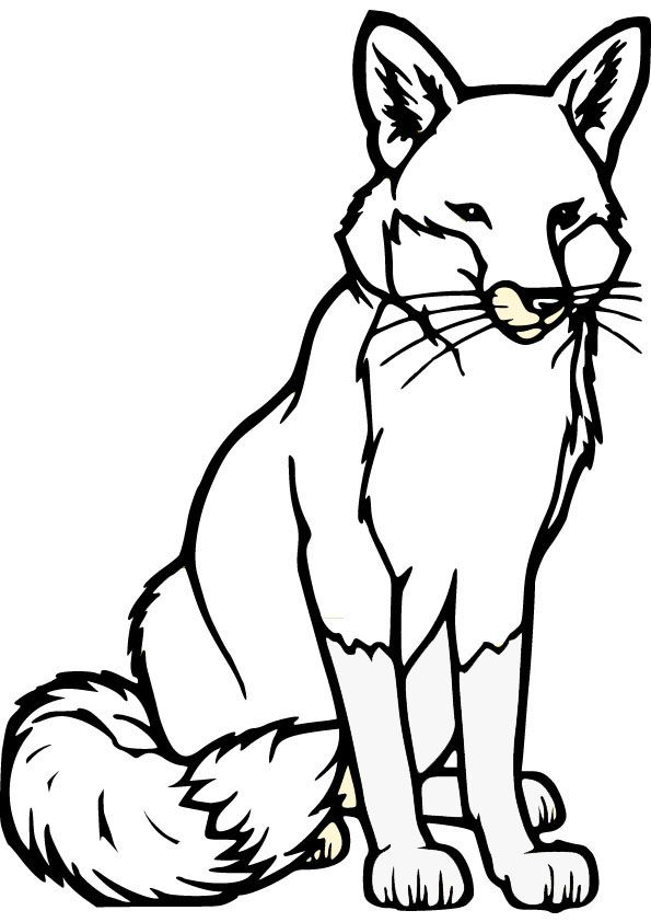 Easy Fox Picture Coloring Page Fox Coloring Page Animal Templates Fox Silhouette