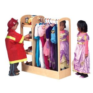 Guidecraft Natural See and Store Dress-Up Center